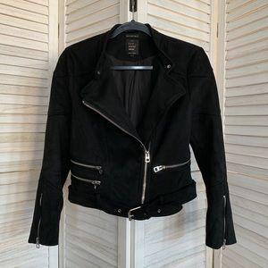 Zara Black Faux Suede Jacket size M